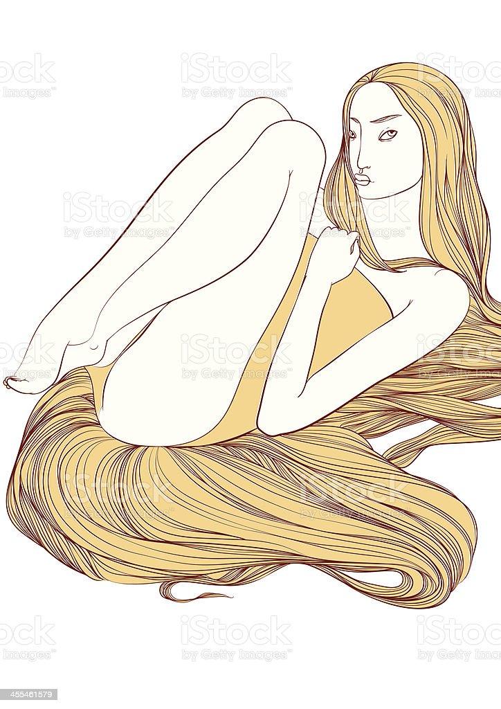 Hair royalty-free stock vector art
