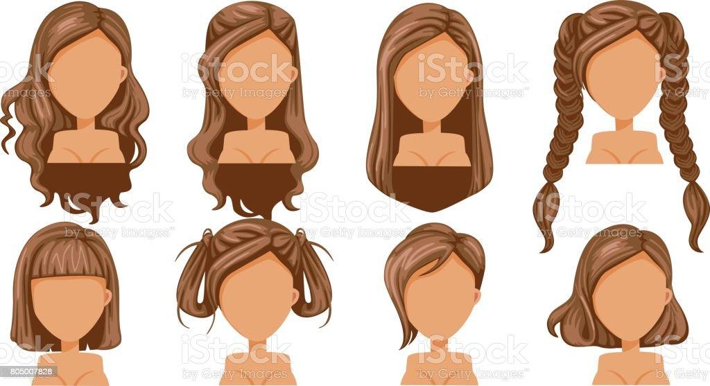 Hair vector art illustration