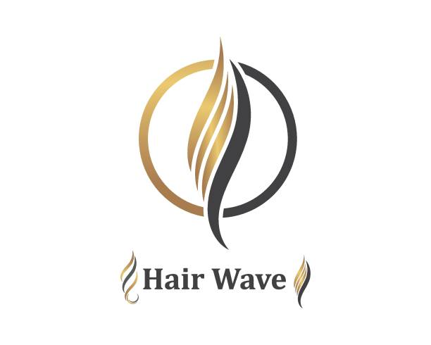 hair wave icon vector illustratin design symbol of hairstyle and salon - włosy stock illustrations