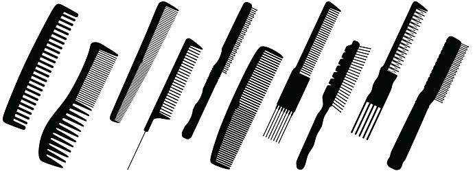 Hairbrush silhouette