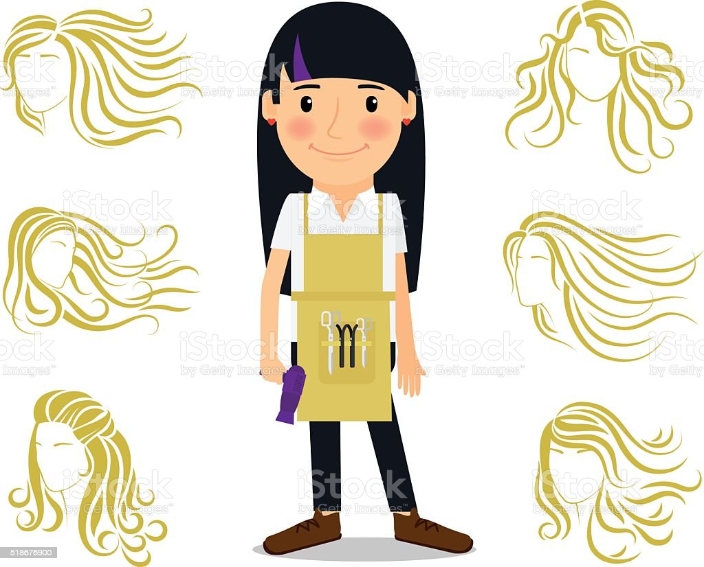 royalty free beautician uniforms cartoons clip art vector images rh istockphoto com african american beautician clipart beautician tools clipart