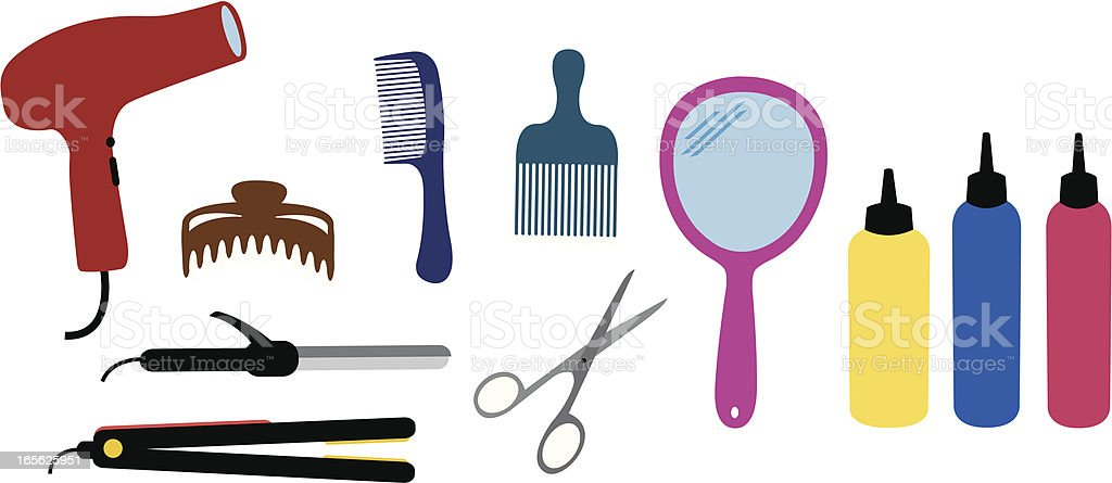 Hairdresser Set royalty-free stock vector art