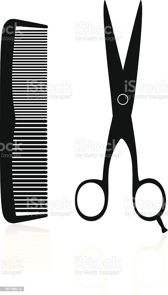 Hairdresser Silhouette vector art illustration
