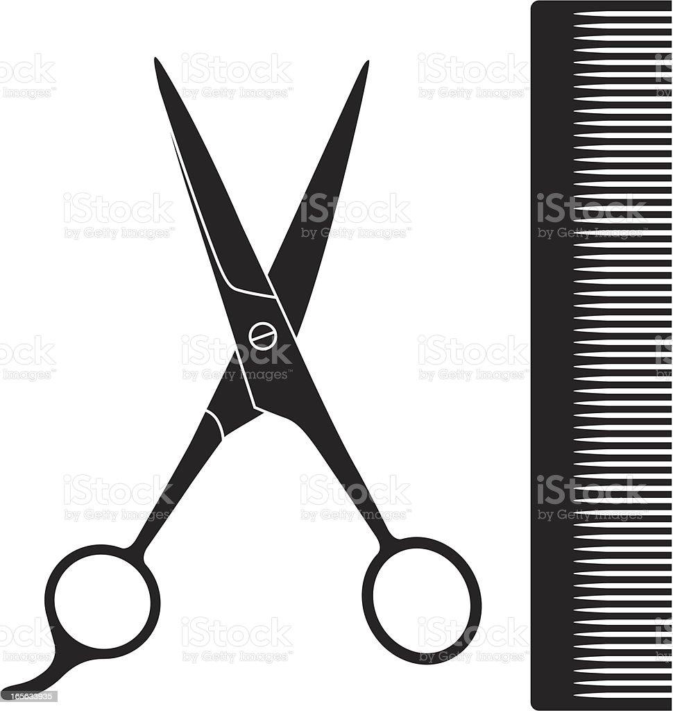 Hairdresser vector art illustration