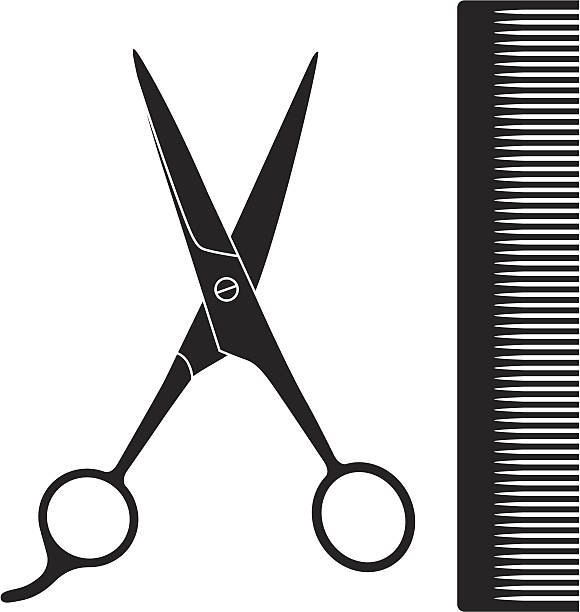 Haircutting Scissors Illustrations, Royalty-Free Vector ...