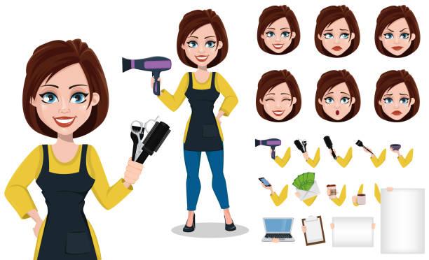 Best beauty salon cartoon illustrations royalty free for Uniform spa vector