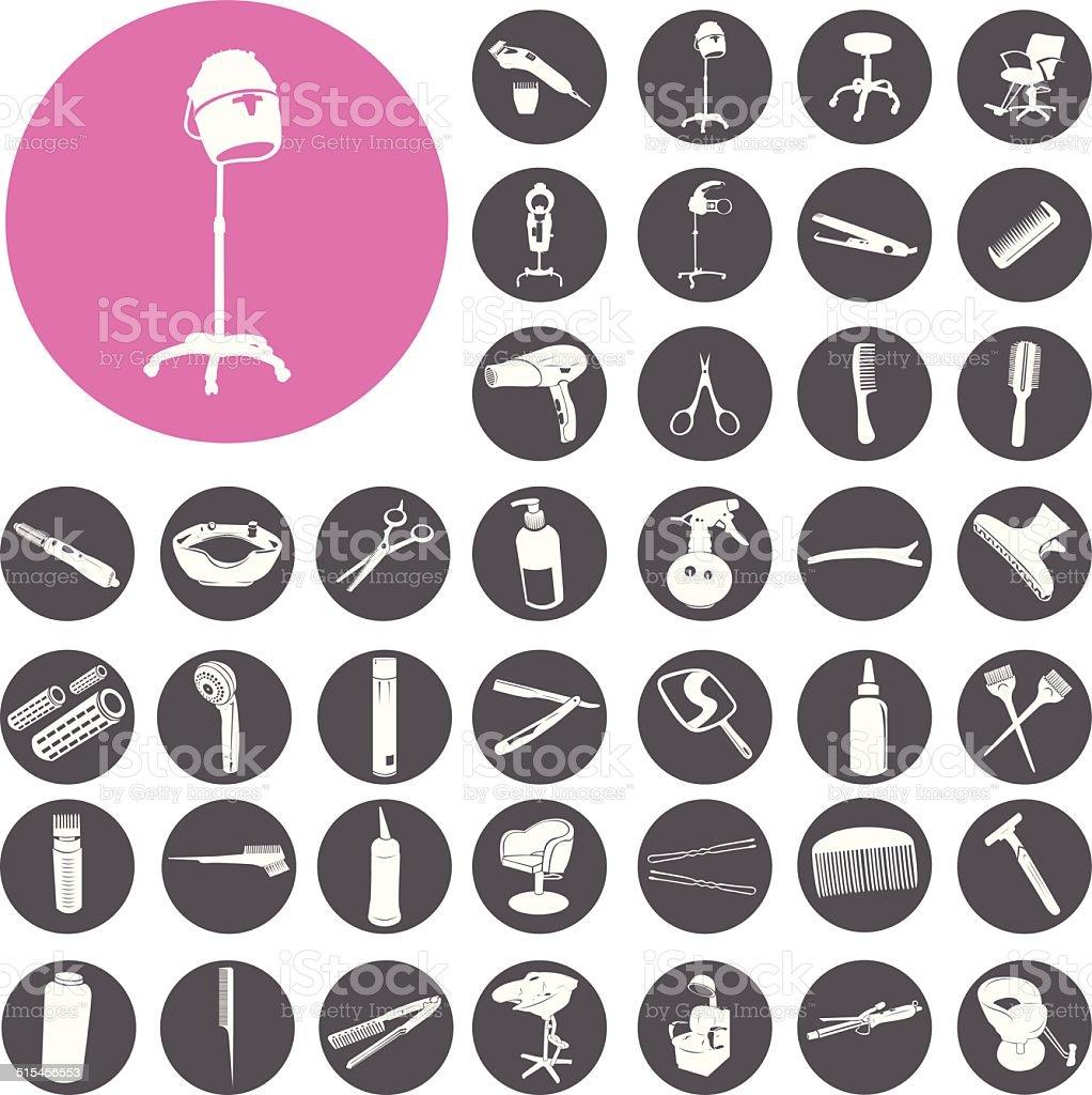 Friseur symbol, die mit symbol.  Vektor-Illustration eps10 – Vektorgrafik