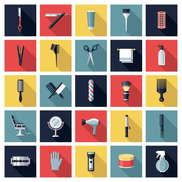 美容アイコンセット - 美容室点のイラスト素材/クリップアート素材/マンガ素材/アイコン素材