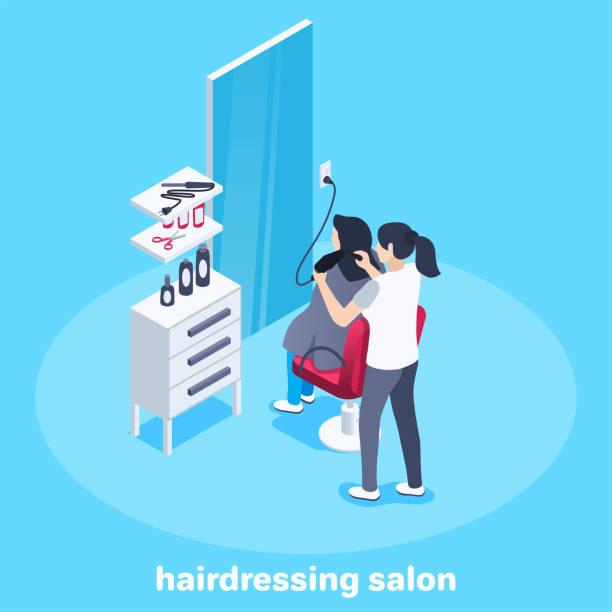美容院 - 美容室 3d点のイラスト素材/クリップアート素材/マンガ素材/アイコン素材