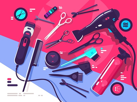 Hair care stock illustrations