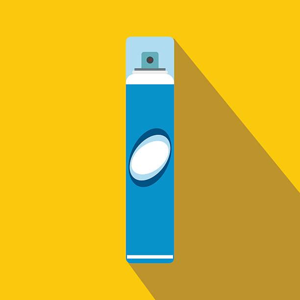 hairspray flat icon with shadow - haarsprays stock-grafiken, -clipart, -cartoons und -symbole