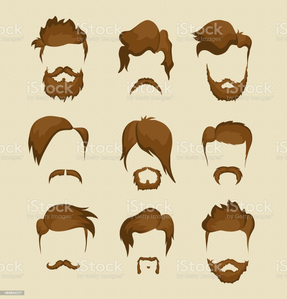 hairstyle hipster vector art illustration