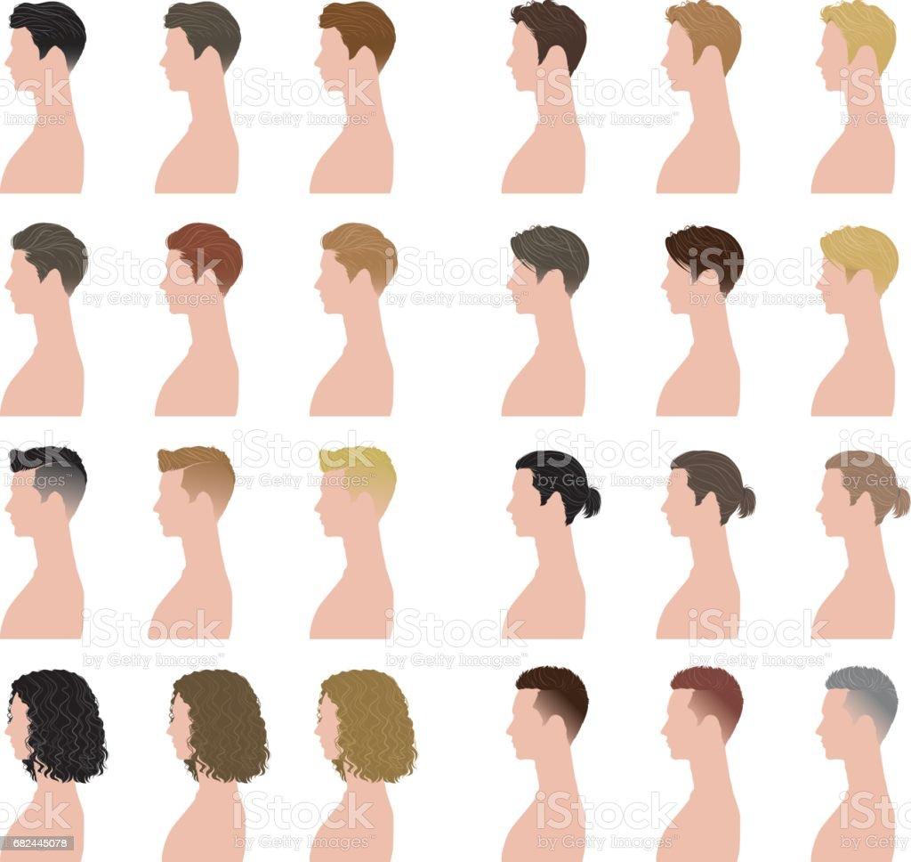男の髪型 - イラストレーションのベクターアート素材や画像を多数ご用意