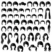 hairstyle silhouette