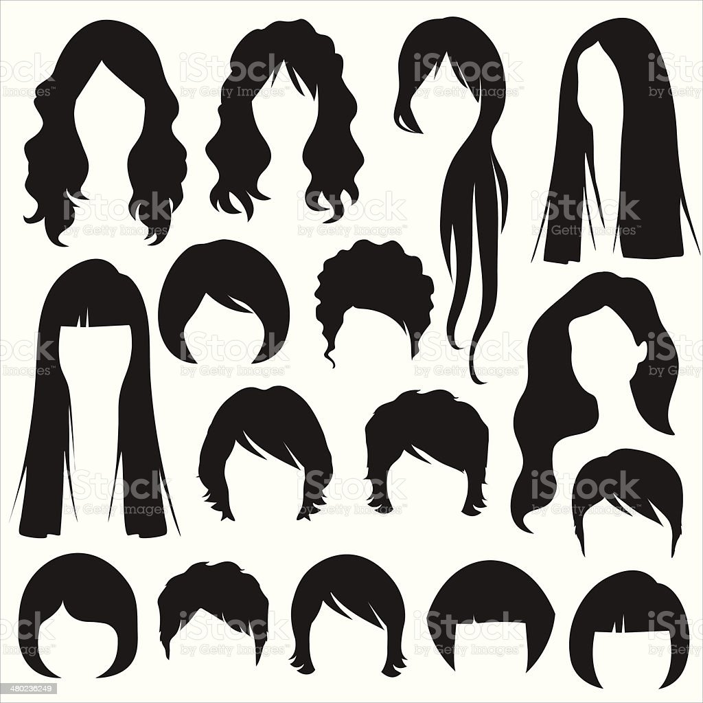royalty free woman hair clip art vector images illustrations istock rh istockphoto com hair clipart for photoshop hair clipart free