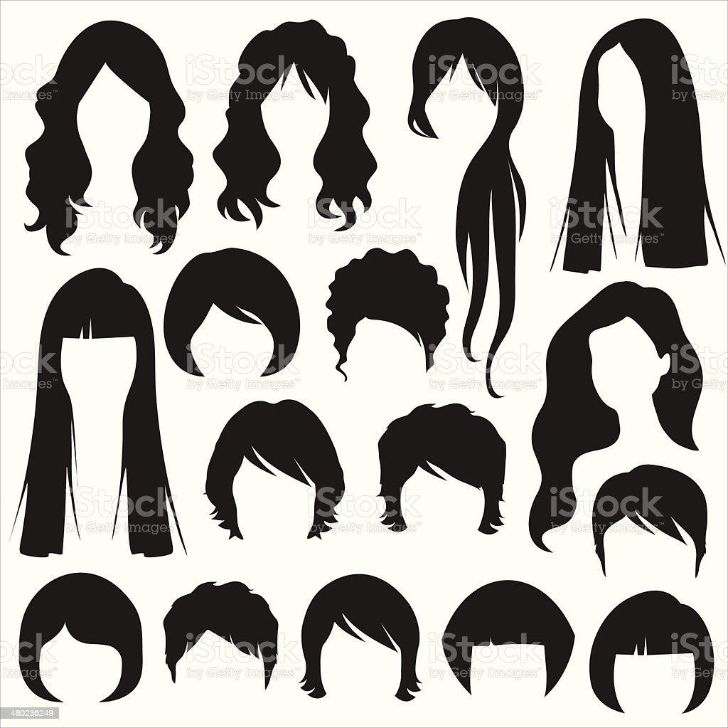 royalty free long hair clip art vector images illustrations istock rh istockphoto com hair clip art black and white hair clip art 34554242