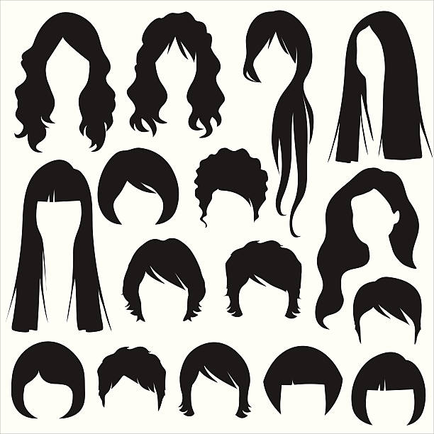 hairstyle - hairstyle stock illustrations, clip art, cartoons, & icons