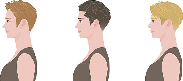 Hairstyle Illustration of the person suave stock illustrations
