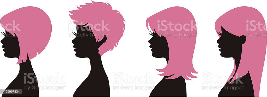 Hairstyles 1 vector art illustration
