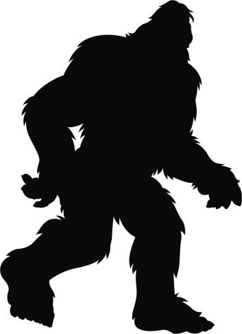 hairy bigfoot silhouette
