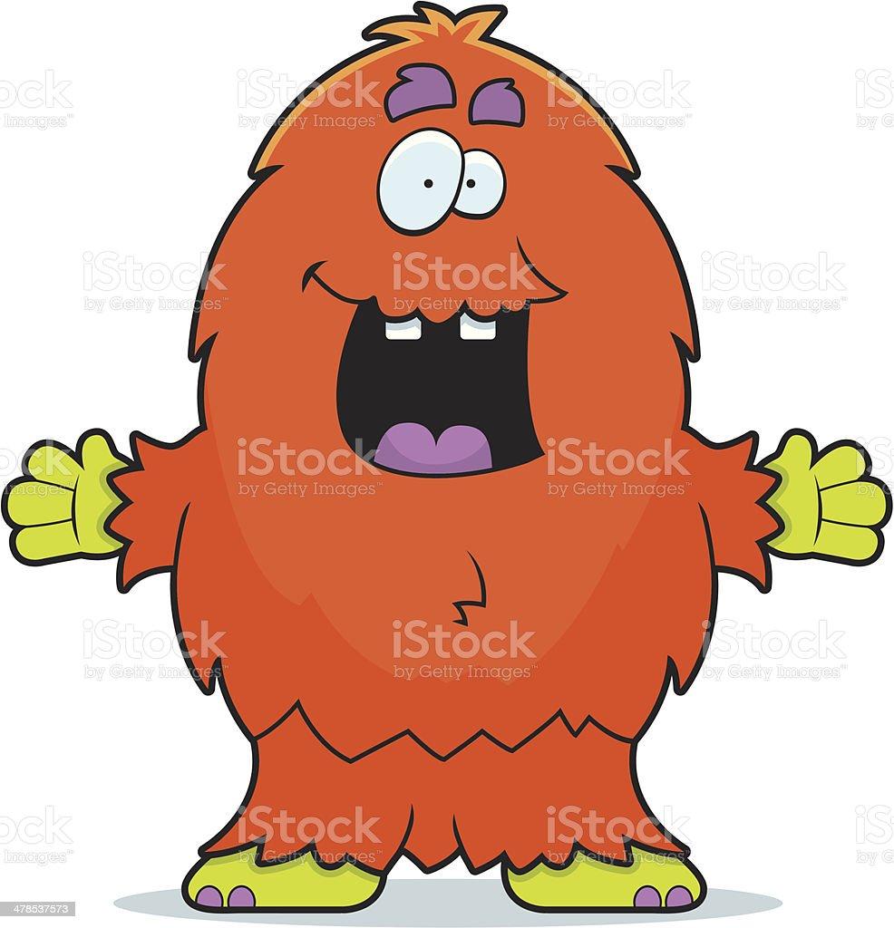 Hairy Monster vector art illustration