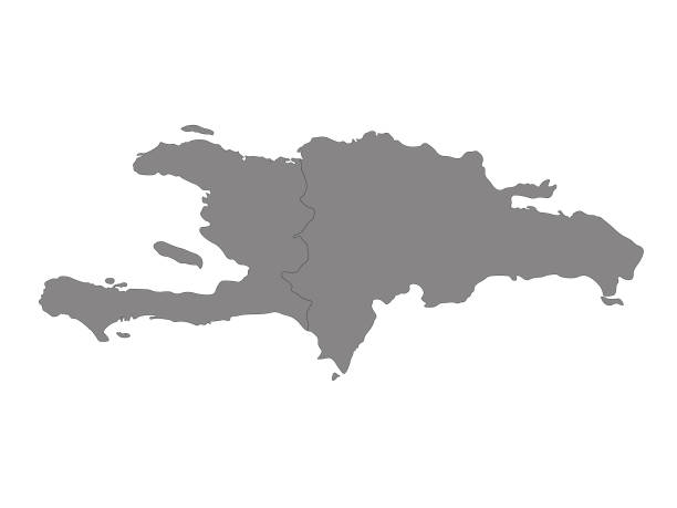 Haiti and Dominican Republic map vector illustration of Haiti and Dominican Republic map haiti stock illustrations