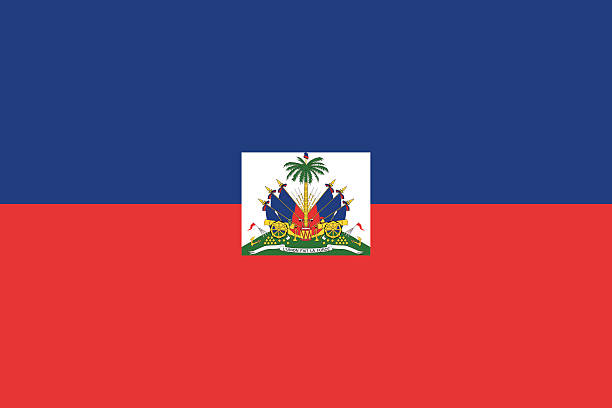 Haiti flag Flag of the country Haiti Vector illustration in official colors. haiti stock illustrations