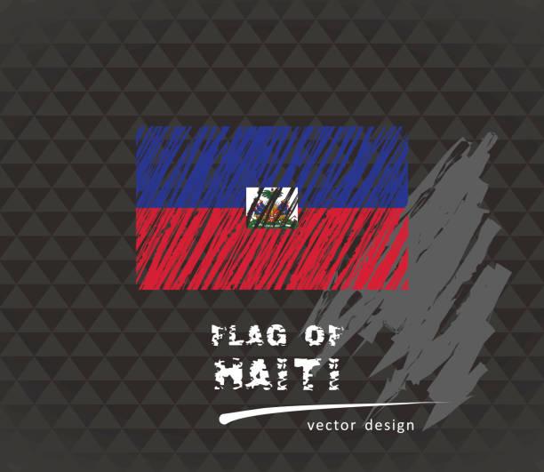 Haiti flag, vector sketch hand drawn illustration on dark grunge background Honduras vector hand drawn sketch map drawing of a haiti map stock illustrations