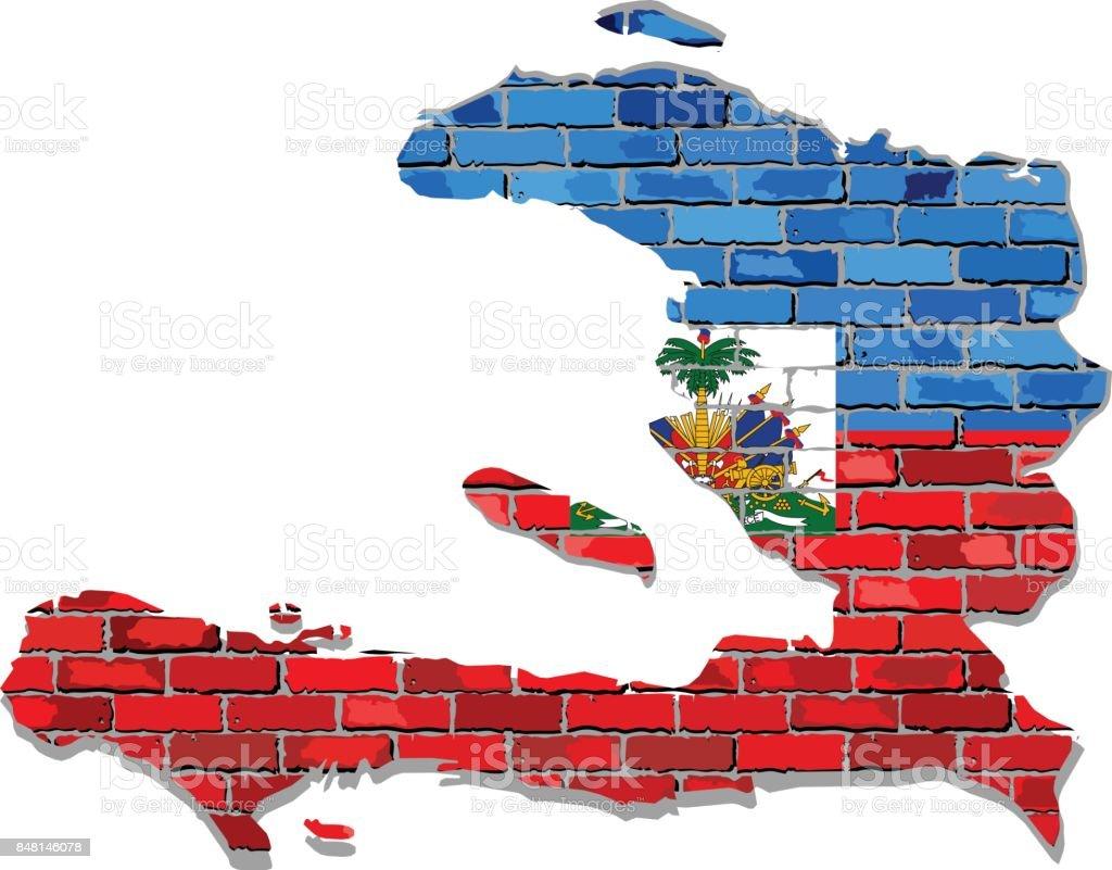 Haiti map on a brick wall stock vector art more images of abstract haiti map on a brick wall royalty free haiti map on a brick wall stock gumiabroncs Choice Image