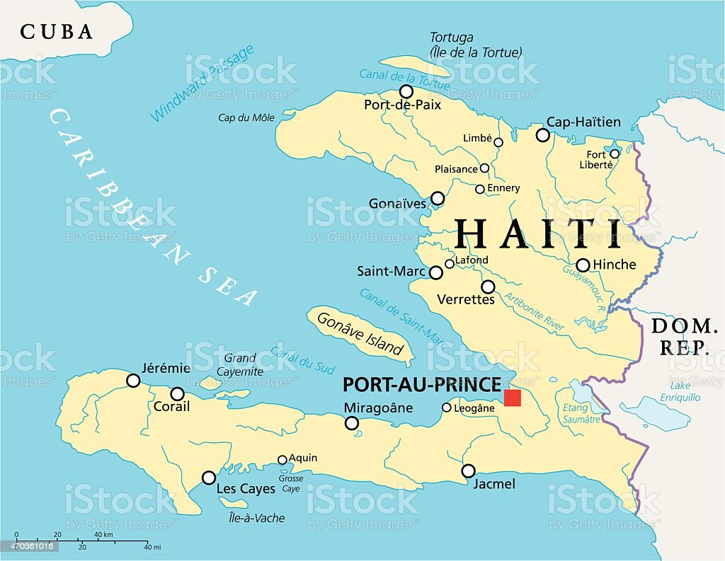 Haiti Political Map Stock Vector Art More Images of 2015 470361016