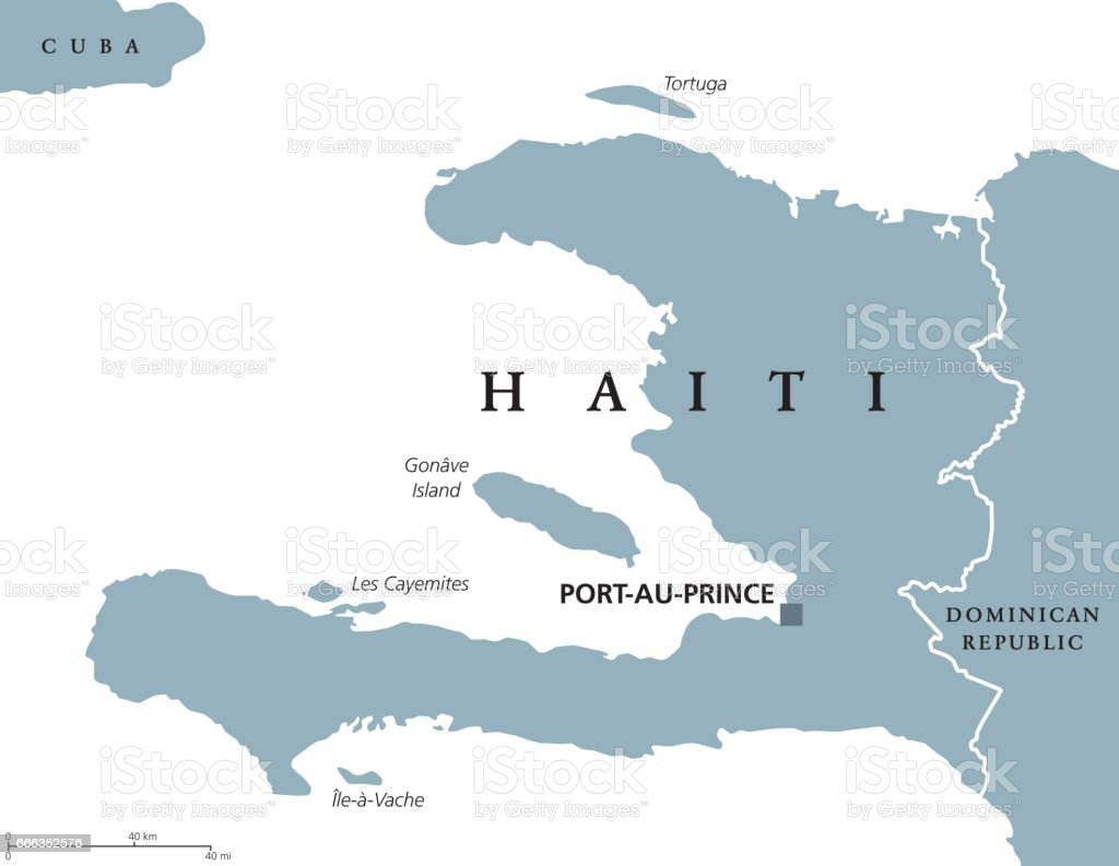 Haiti On Map Of World.Haiti Political Map Stock Vector Art More Images Of Antilles