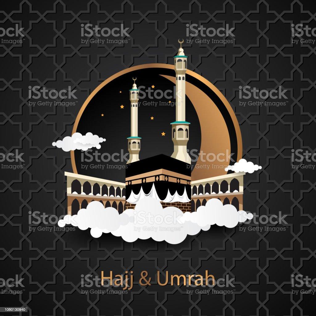 Umrah Banner: Hajj And Umrah Creative Background Stock Vector Art & More