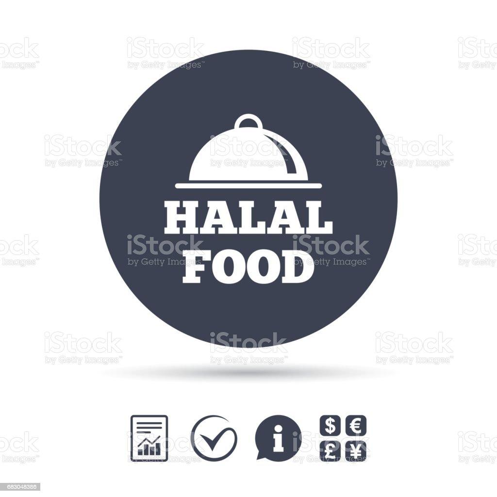 Halal food product sign icon. Natural food. ilustración de halal food product sign icon natural food y más banco de imágenes de alimento libre de derechos