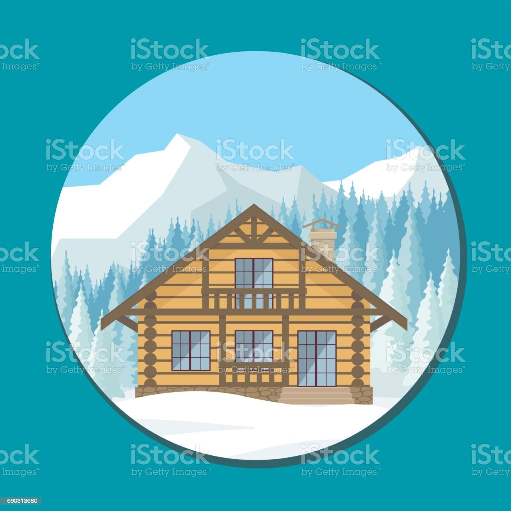 halet in the mountains vector art illustration