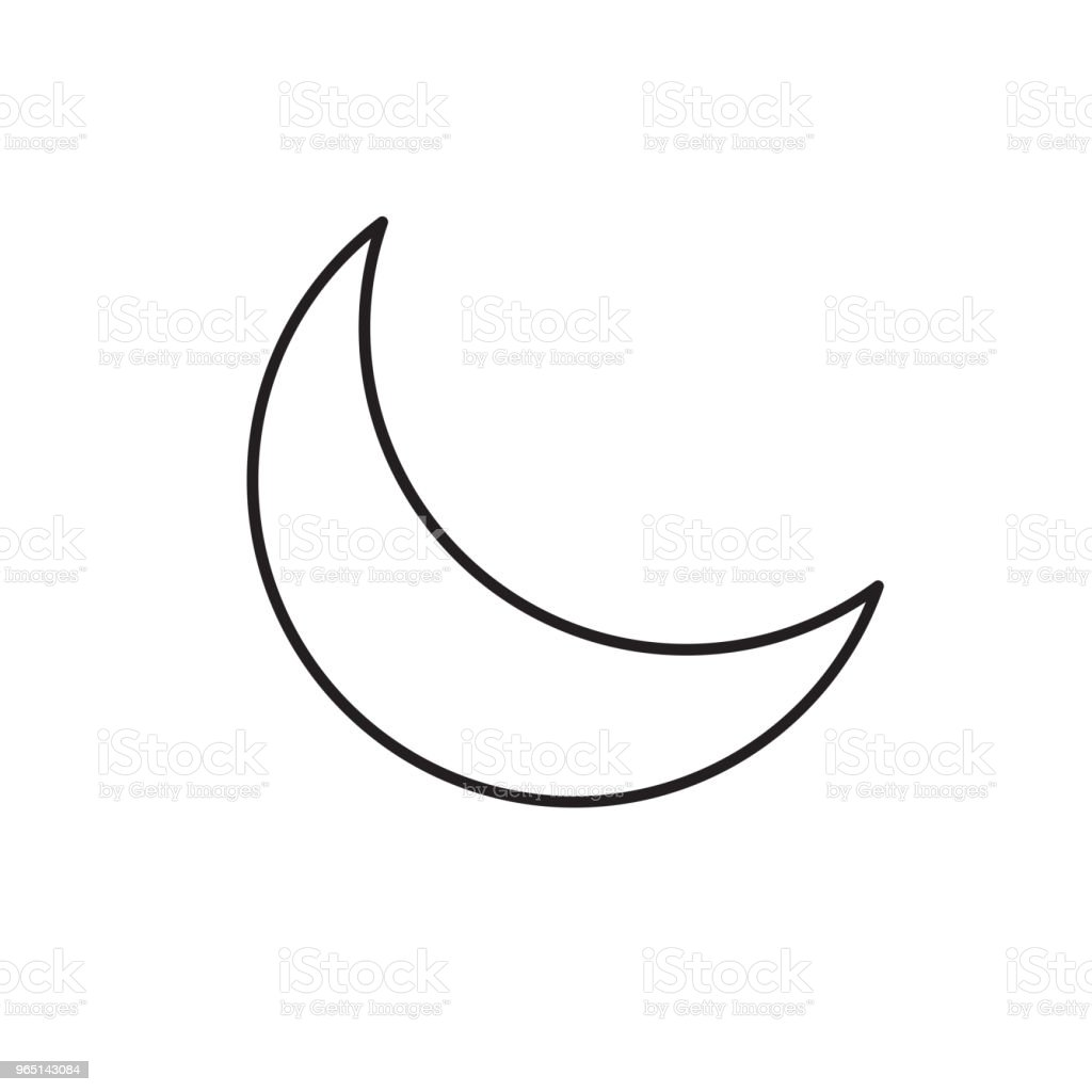 half moon icon royalty-free half moon icon stock vector art & more images of abstract