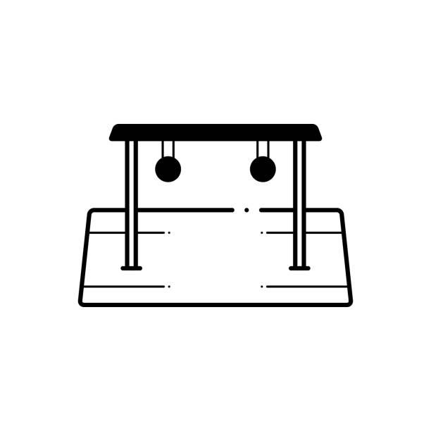 half round - monkey bars stock illustrations, clip art, cartoons, & icons