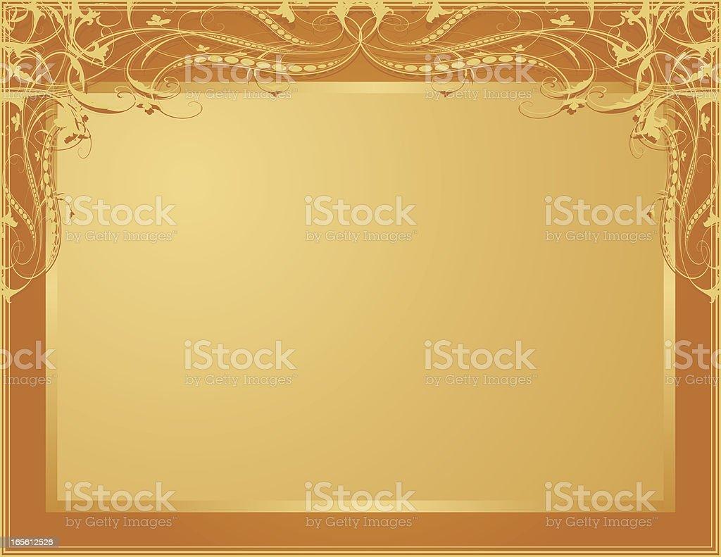 Half Scroll Framework royalty-free stock vector art