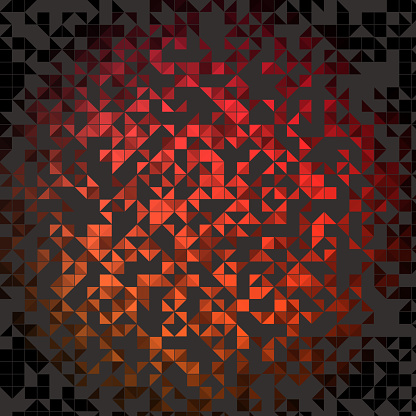 Half square triangles, about half colored, shape pattern. With stroke.