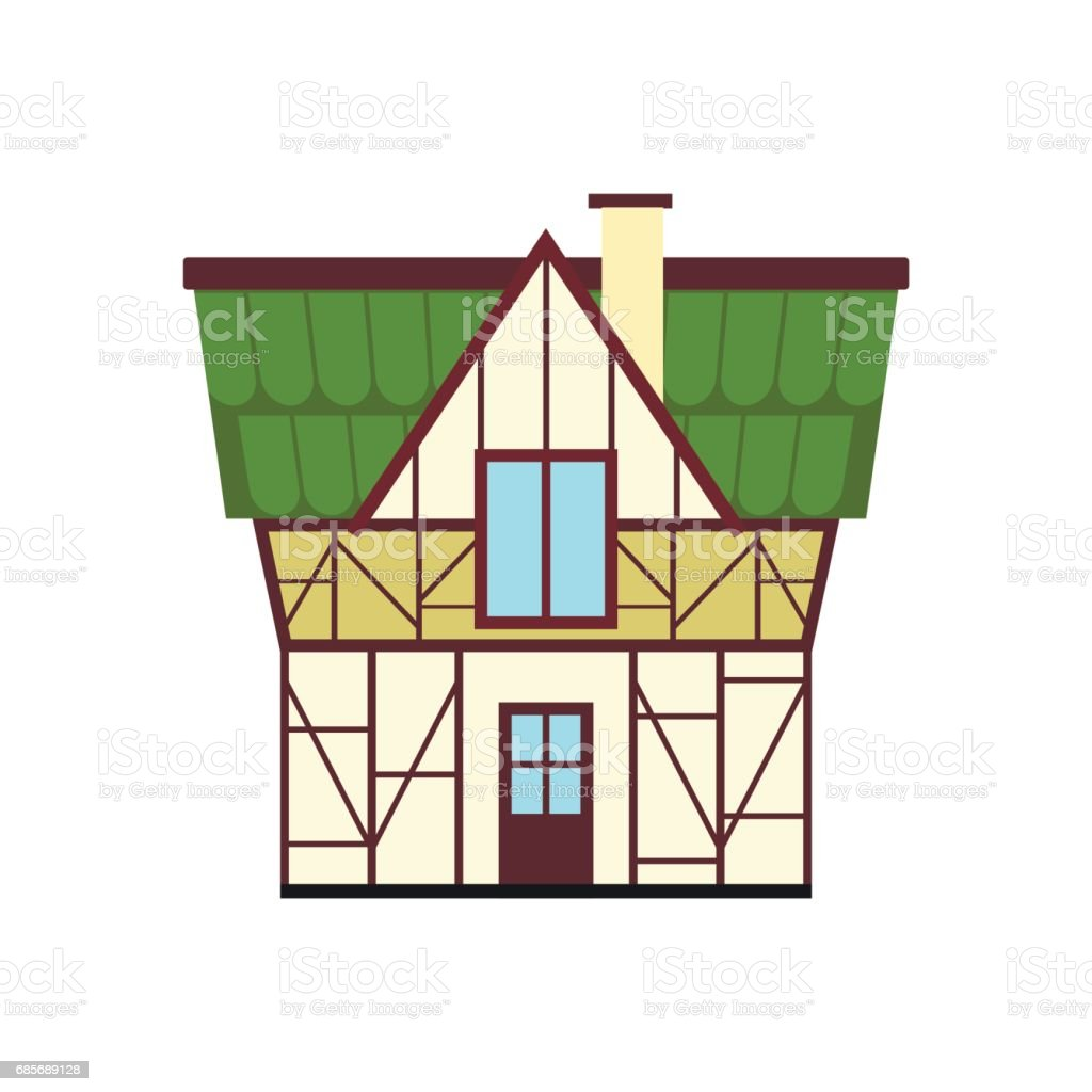 Half timbered house in Germany icon, flat style royalty-free half timbered house in germany icon flat style stock vector art & more images of archival