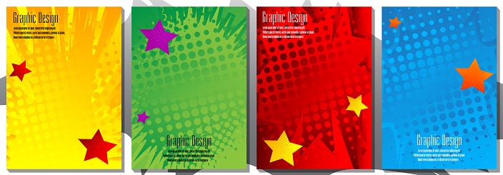 Half tone cover design templates.