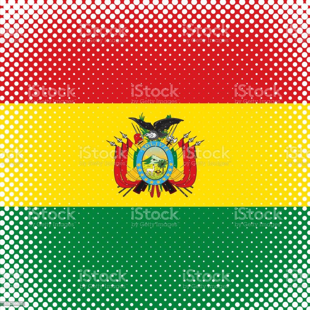 Half Tone Flag - Bolivia - ilustración de arte vectorial