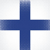 Half Tone Flag - Finland
