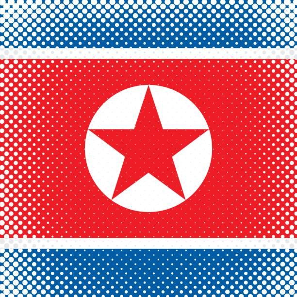 ilustraciones, imágenes clip art, dibujos animados e iconos de stock de bandera de tono medio - corea del norte - bandera coreana