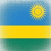 Half Tone Flag - Rwanda