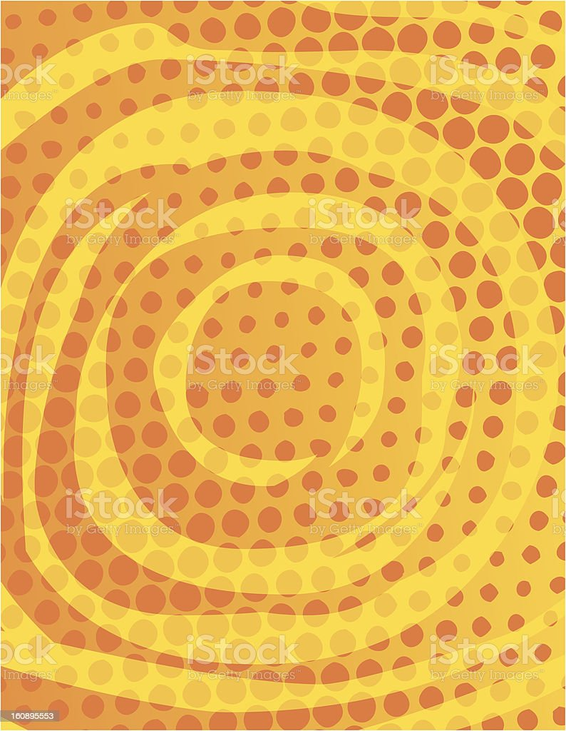 Half Tone Swirl royalty-free stock vector art