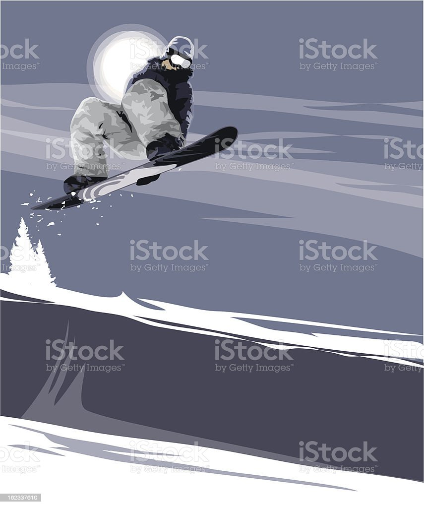 Halfpipe Air vector art illustration
