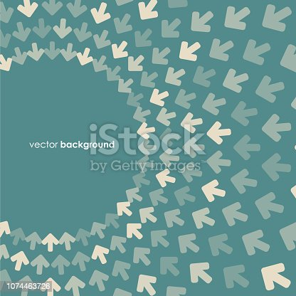 Vector of green color halftone arrow pattern background. EPS AI 10 file format.