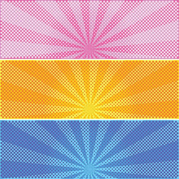 bildbanksillustrationer, clip art samt tecknat material och ikoner med halftone background - pink sunrise