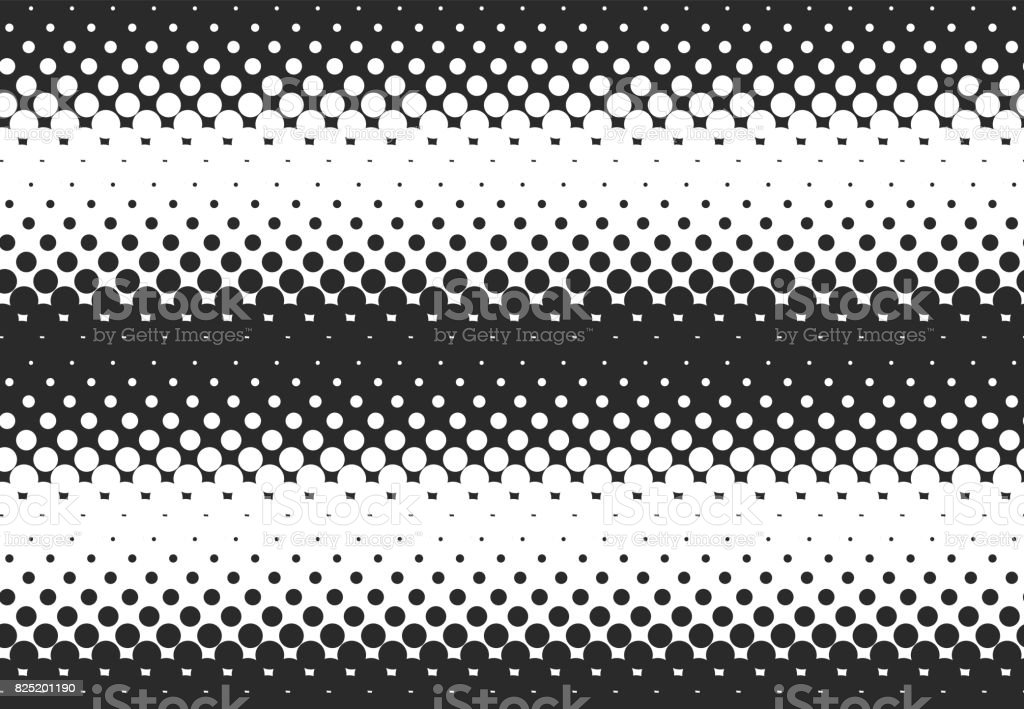 Halftone black and white seamless pattern vector art illustration