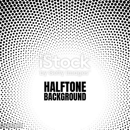Halftone circle gradient background Modern look for business or comic texture.